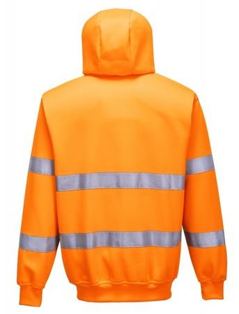Bluza robocza odblaskowa z kapturem zapinana na zamek B305 Portwest