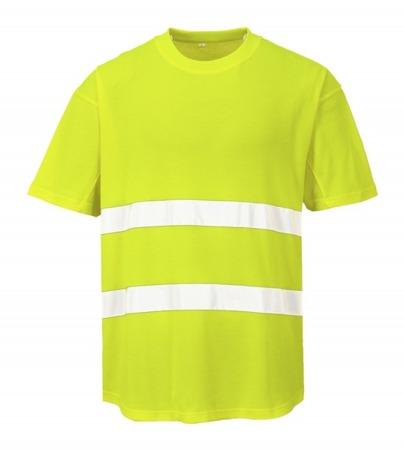 T-shirt odblaskowy koszulka z panelami z siatki przewiewny C394 Portwest